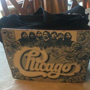Handbags - Unique Chicago  record  Handbag zip closure 10x8